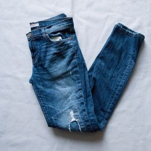 J Brand The Pencil Leg Big Time Distressed Jeans